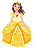 Brunette princess Stock Image