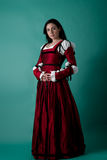 Brunette in renaissance costume Royalty Free Stock Images