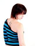 Brunette Rocker Girl Royalty Free Stock Images