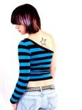 Brunette Rocker Girl Stock Image