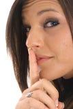 Brunette secret Stock Image