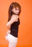 Brunette sexy images libres de droits