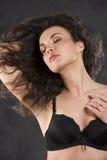 Brunette sexy in biancheria Fotografia Stock Libera da Diritti