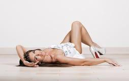 Brunette sexy women Stock Photos