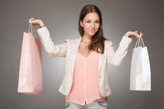 Brunette shopping beauty. Stock Image