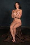 Brunette sitting nude Stock Photo