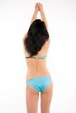 Brunette slim girl in swimsuit Royalty Free Stock Image
