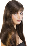 Brunette with smooth hair Stock Image