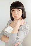 Brunette sonhador Imagem de Stock Royalty Free