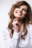 Brunette sonriente. Imágenes de archivo libres de regalías