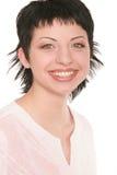 Brunette sorridente 1 fotografie stock libere da diritti