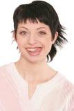 Brunette sorridente 2 fotografie stock libere da diritti