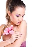 Brunette spa beauty. Royalty Free Stock Photos