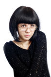 Brunette in spectacles Royalty Free Stock Photos