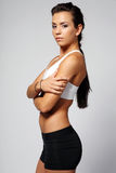 Brunette in sport outfit. Royalty Free Stock Photos