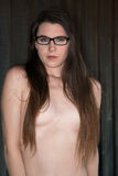Brunette standing nude Royalty Free Stock Photo