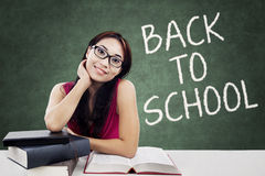 Brunette student back to school Stock Images