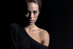 Brunette Studio Model Royalty Free Stock Images