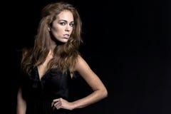 Brunette Studio Model Royalty Free Stock Image