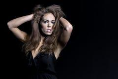 Brunette Studio Model Royalty Free Stock Photography