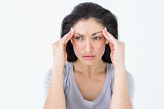 Brunette suffering from migraine Royalty Free Stock Photo