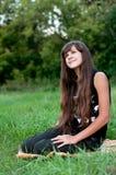 Brunette teen girl on nature. Brunette teen girl on the nature Stock Images