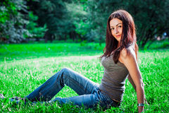 Brunette teen girl Royalty Free Stock Images