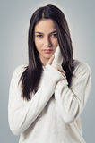 Brunette Teenager Royalty Free Stock Images