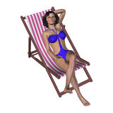 Brunette under Sun Royalty Free Stock Image