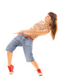 Brunette in urban dance Stock Image