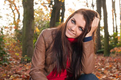 Brunette is waiting Royalty Free Stock Photo