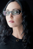 Brunette wearing glasses Stock Image