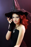 Brunette witch Stock Photography