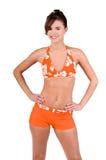 Brunette Woman In a Bikini Stock Photography
