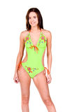 Brunette Woman In a Bikini royalty free stock images