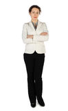 Brunette woman in business dress, standing Stock Photography