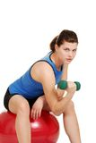 Brunette woman doing her workout Stock Image