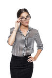 Brunette woman in glasses Stock Photography