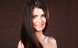 Brunette Woman With Healthy Hairs Royalty Free Stock Images