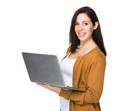 Brunette woman Stock Image