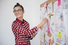 Brunette woman in the office Royalty Free Stock Photo