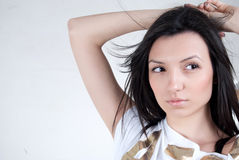 Brunette woman portrait Royalty Free Stock Images