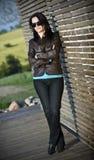 Brunette woman portrait Royalty Free Stock Photos
