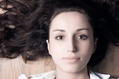 Brunette woman portrait Stock Image