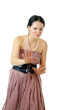 Brunette woman posing Royalty Free Stock Photo