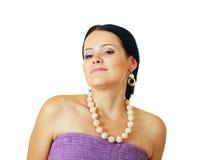 Brunette woman posing Stock Photo