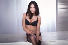 Brunette woman posing. Stock Image