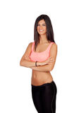 Brunette woman with sport clothing Stock Image
