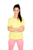 Brunette woman with sport clothing Royalty Free Stock Photos