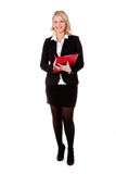 Brunette woman is waiting for orders from her boss Stock Images